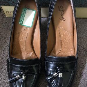 Black Loafer Heels